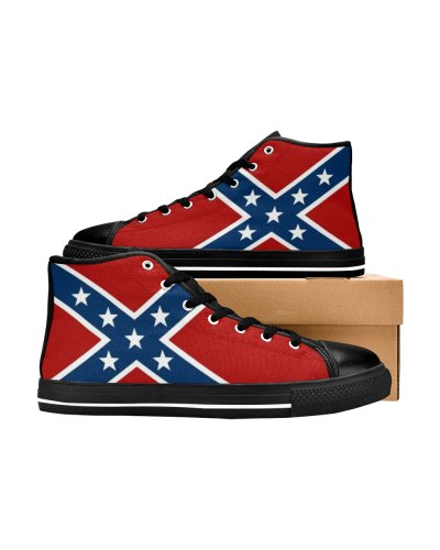 Confederate Battle Flag canvas high top sneakers